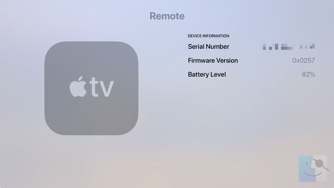 Серийный номер пульта Apple TV Siri Remote в пультах и устройствах в настройках