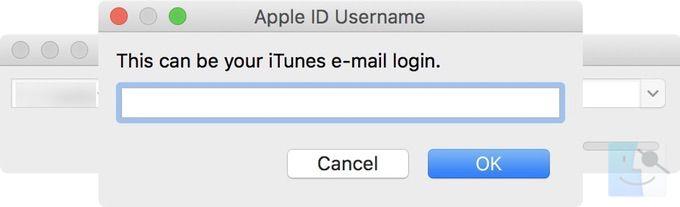 Войдите в систему используя свой Apple ID