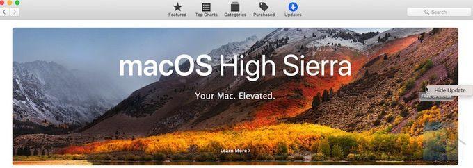 Как запретить обновление до macOS High Sierra и отключить уведомления