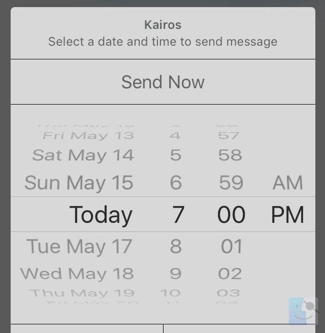 Kairos позволяет запланировать отправку отложенных текстовых сообщений