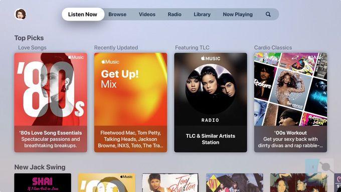 Слушайте сейчас в музыке на Apple TV