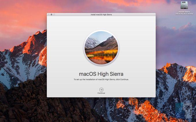 macos upgrade notification high sierra