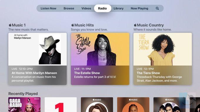 Радио в музыке на Apple TV