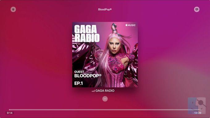 Радиостанция в музыке на Apple TV