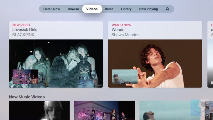 Видео в музыке на Apple TV
