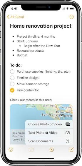 Apple Notes на iPhone