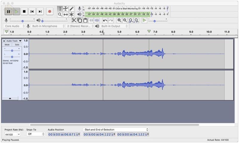 Audacity Наглость Нет отличный звуковой редактор