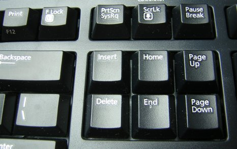 Backspace Вставить клавиши PrtScn