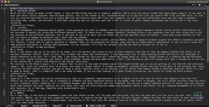 BBEdit отличный текстовый редактор на Mac
