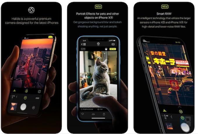 Скриншоты Halide приложения камеры для iPhone