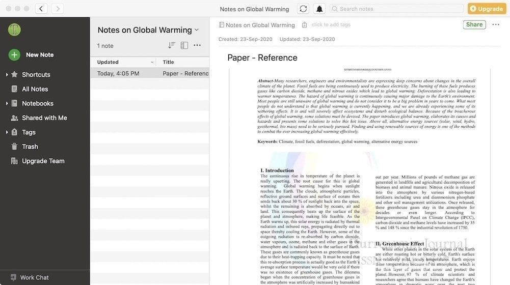 PDF в Evernote
