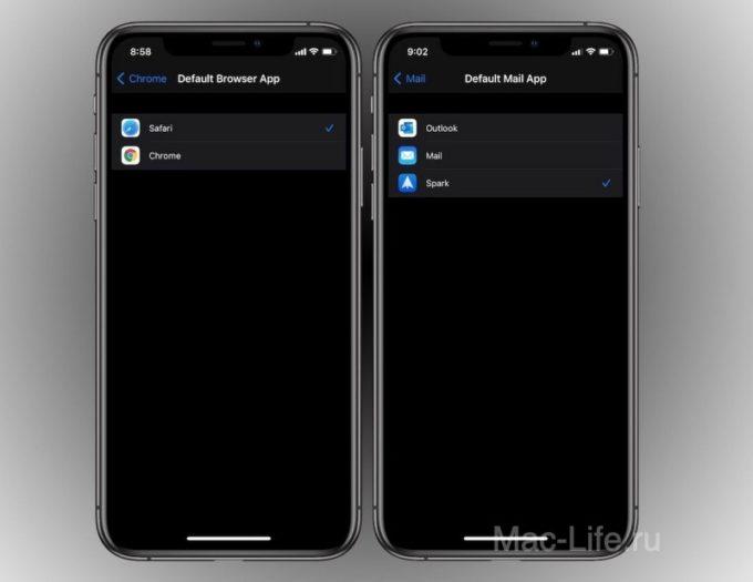 Как изменить браузер по умолчанию и почтовые приложения на iPhone