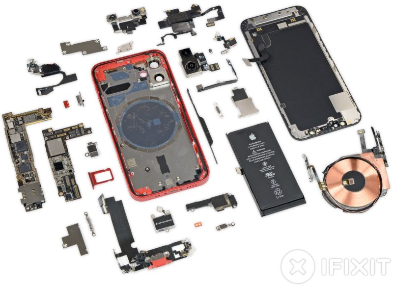 Разборка iPhone 12 и iPhone 12 mini - 6 балов по ремонтопригодности