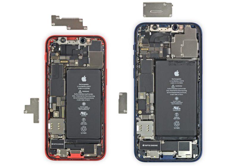Разборка iPhone 12 и iPhone 12 mini 6 балов по ремонтопригодности