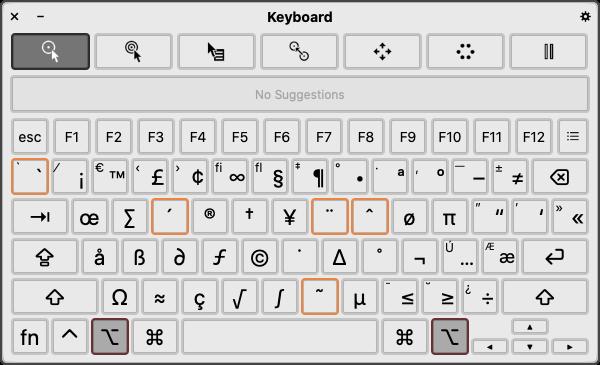 клавиатуры macOS 10155