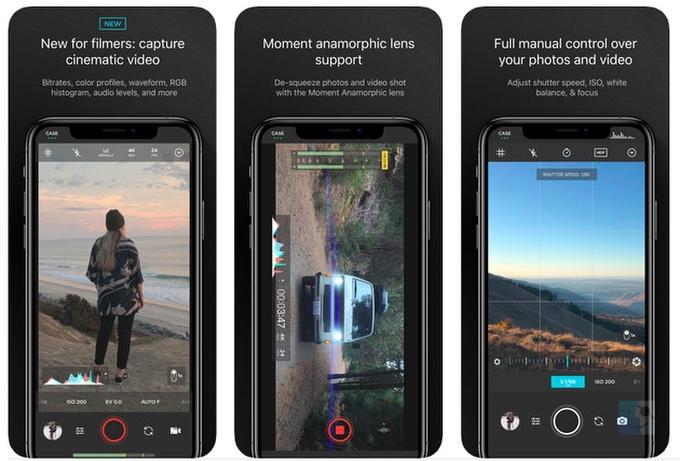 Скриншоты Moment мощного приложения для камеры iPhone