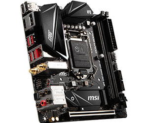 MSI MPG Z390I GAMING EDGE AC лучшая материнская плата Mini ITX