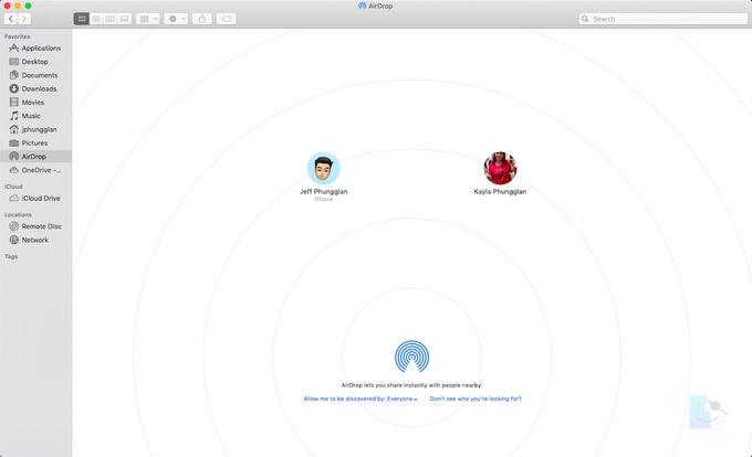 Как включить AirDrop на Mac чтобы можно было отправлять фотографии с iPhone