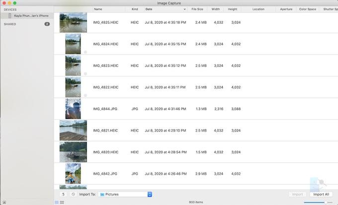 Как сохранить фотографии с iPhone на Mac с помощью ImageCapture