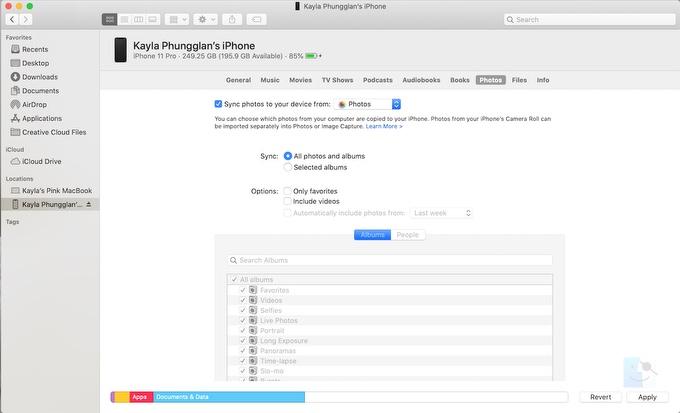 Как синхронизировать фотографии iPhone с Mac с помощью Finder в более новых версиях macOS