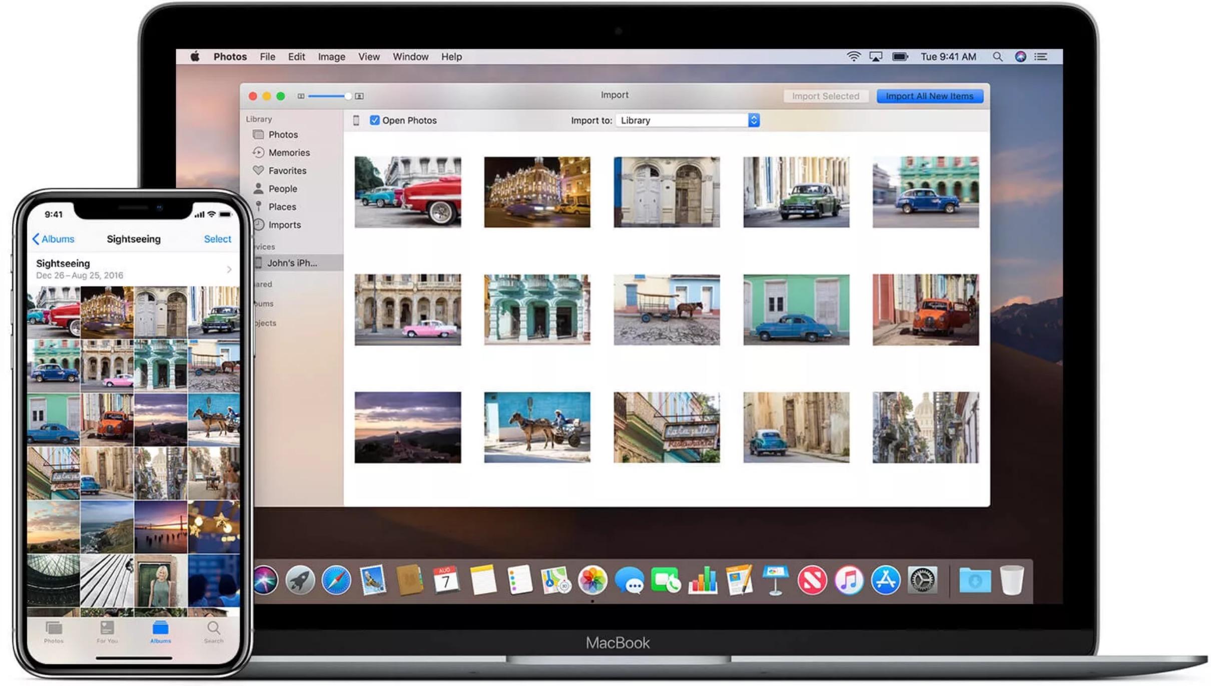 Перенос фотографий с Mac на iPhone и IPad
