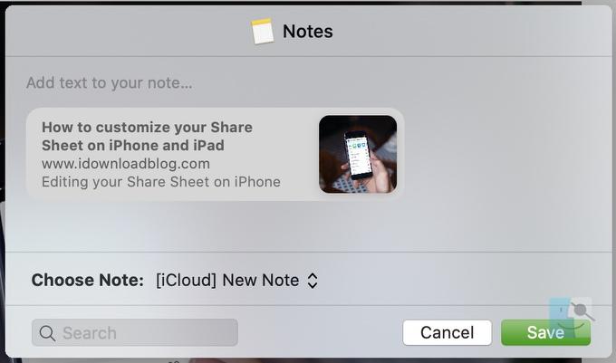 Как сохранить веб-страницу Safari в Notes на Mac, iPhone и iPad