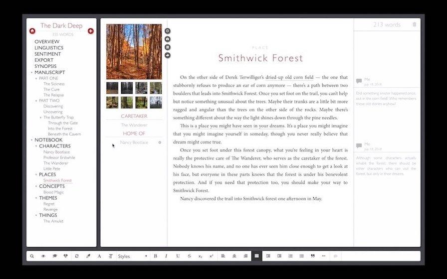 1. Shaxpir 4 Приложения для написания новелл 2
