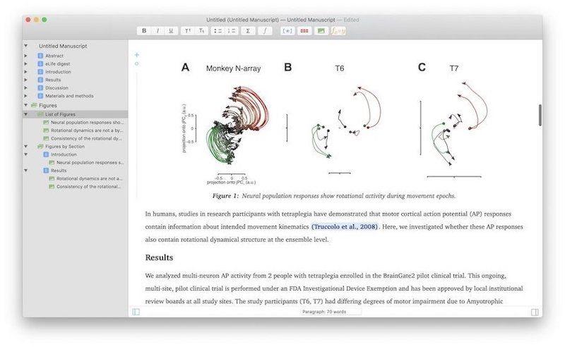 5. Рукописи - лучшее приложение для академического письма для Mac 2
