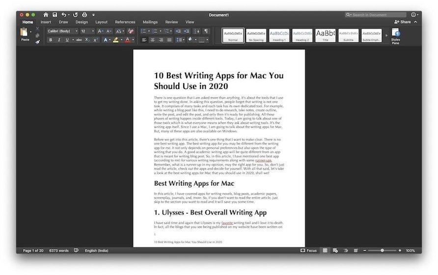 2. Microsoft Word