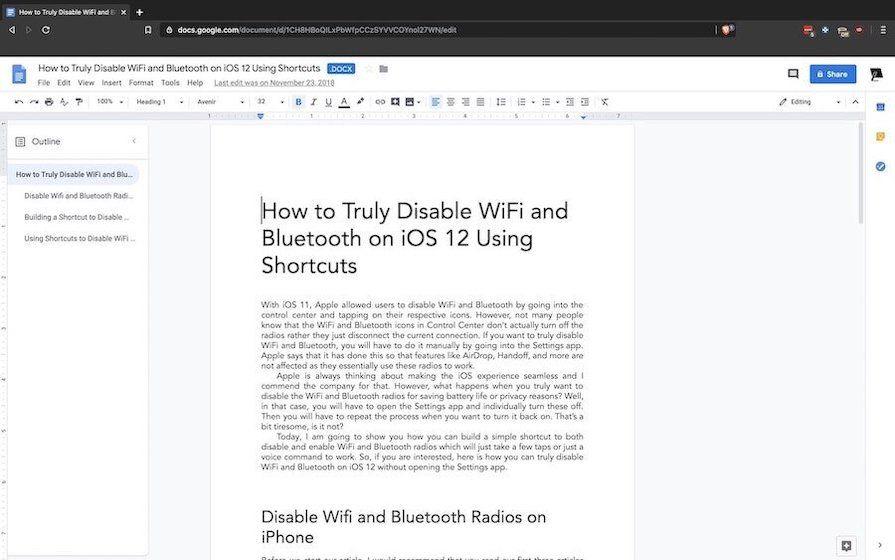 7. Google Docs - лучшее приложение для совместной работы в реальном времени.