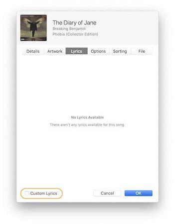 Добавление собственных текстов к песням в Apple Music 3